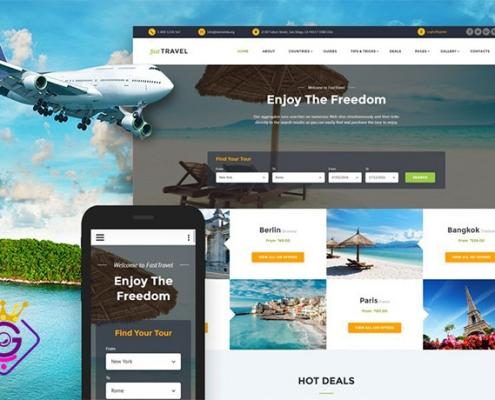 طراحی سایت شرکتی آژانس هواپیمایی
