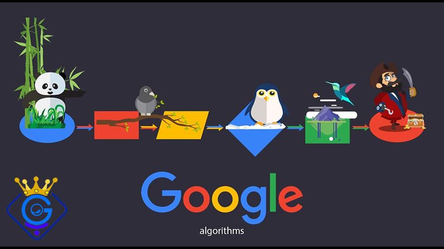الگوریتم های گوگل و آپدیت های جدید آنها