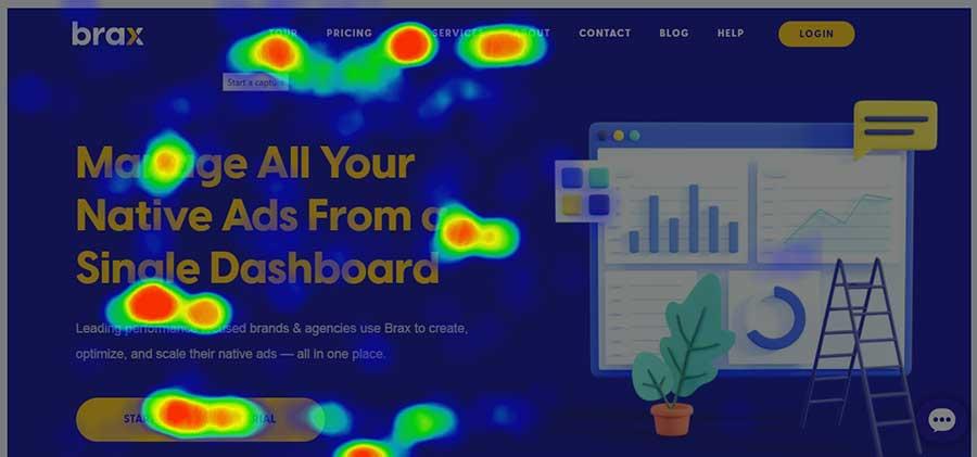 به کارگیری نقشه گرمایی یا هیت مپ سایت برای اطلاع از تجربه کاربری